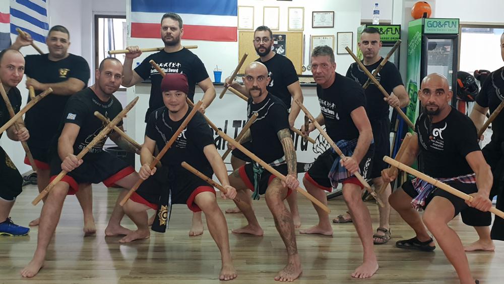 Tactical Thai Sword seminar in cyprus - Kru Nuat, Kru Thod, Kru Andreas