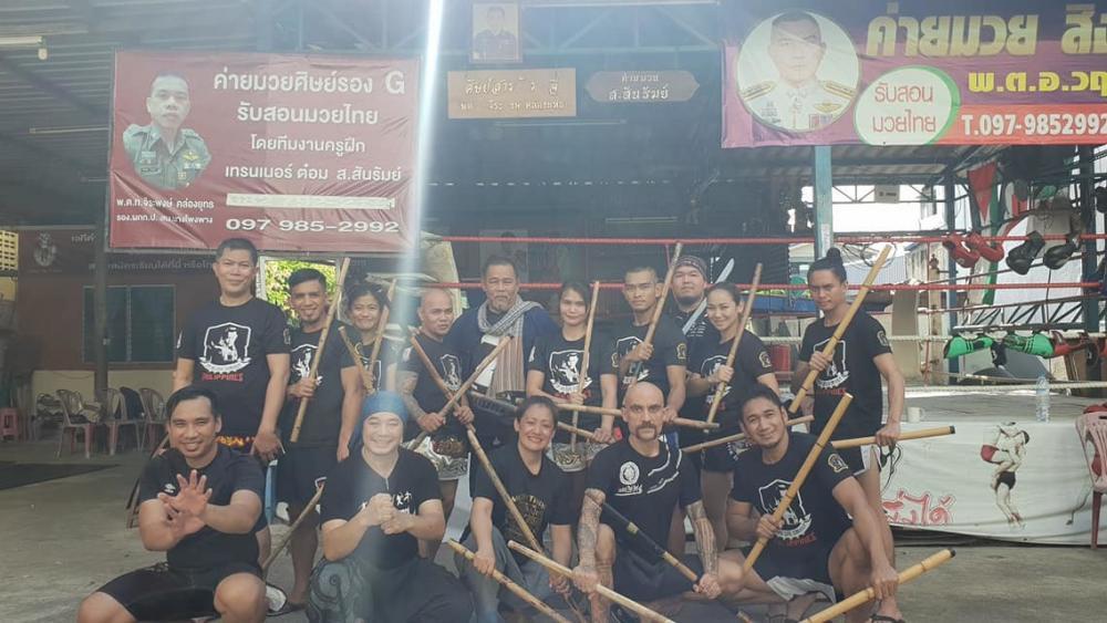 Tactical Thai Sword Seminar at Sit Kru Sane, Siamyout group, Kru Nuat