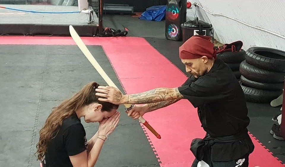 Steffi earns Nakdab level I at Tactical Thai Sword London with Kru Nuat