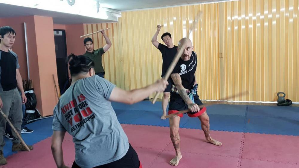 Tactical Thai Sword seminar at JDT in Bangkok, Kru Thod and Kru Nuat